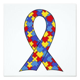 Autismus-Bewusstseins-Band Quadratische 13,3 Cm Einladungskarte