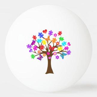 Autismus-Bewusstseins-Baum Tischtennis Ball