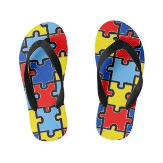 Autismus-Bewusstseins-Flipflops Kinderbadesandalen