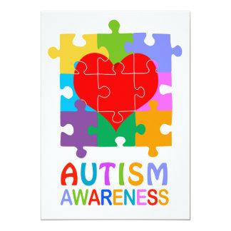Autismus-Bewusstseins-Herz 12,7 X 17,8 Cm Einladungskarte