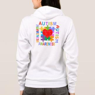 Autismus-Bewusstseins-Herz Hoodie