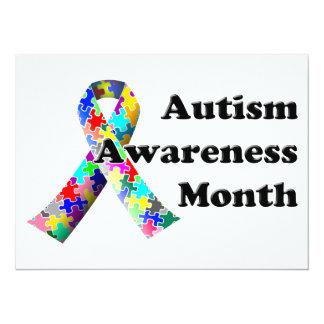 Autismus-Bewusstseins-Monat 14 X 19,5 Cm Einladungskarte