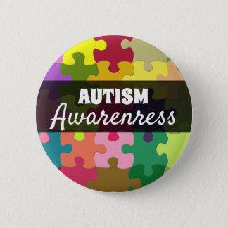 Autismus-Bewusstseins-Puzzlespiel bessert Knopf Runder Button 5,7 Cm