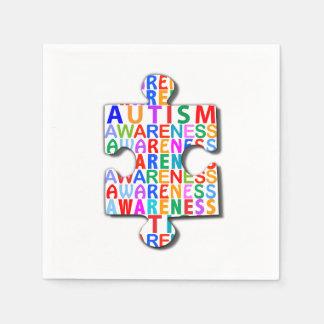 Autismus-Bewusstseins-Puzzlespiel Papierservietten