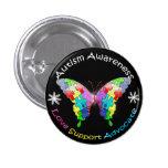 Autismus-Bewusstseins-Schmetterling Buttons