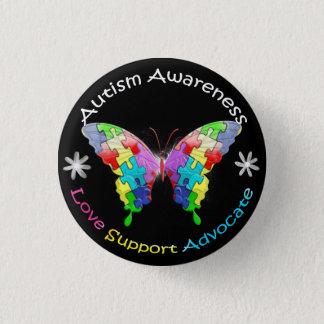 Autismus-Bewusstseins-Schmetterling Runder Button 2,5 Cm