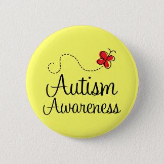 Autismus-Bewusstseins-Schmetterlings-Geschenk Runder Button 5,7 Cm