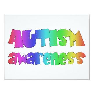 Autismus-Bewusstseinsvorlagenprodukte! 10,8 X 14 Cm Einladungskarte