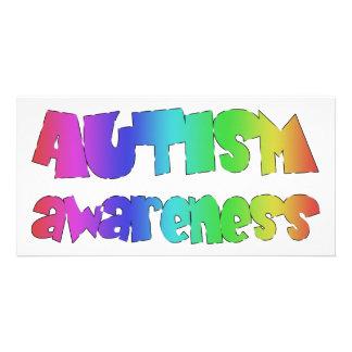 Autismus-Bewusstseinsvorlagenprodukte! Bild Karte