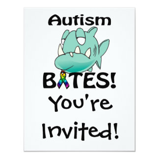 Autismus BISSE Individuelle Einladungskarte