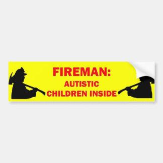 Autismus-Brandschutz Autoaufkleber