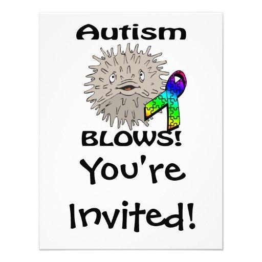 Autismus brennt Bewusstseins-Entwurf durch Personalisierte Einladung