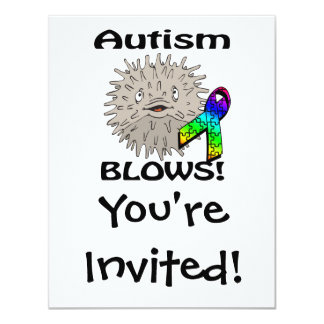 Autismus brennt Bewusstseins-Entwurf durch 10,8 X 14 Cm Einladungskarte