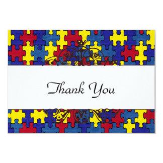 Autismus dankt Ihnen 8,9 X 12,7 Cm Einladungskarte