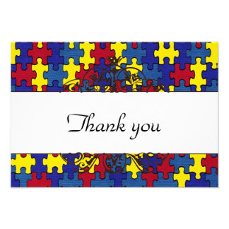 Autismus dankt Ihnen Personalisierte Einladung