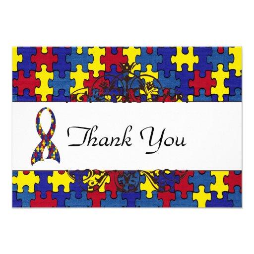 Autismus dankt Ihnen Personalisierte Einladungskarten