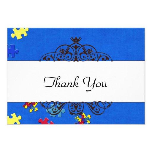 Autismus dankt Ihnen Personalisierte Ankündigungskarte