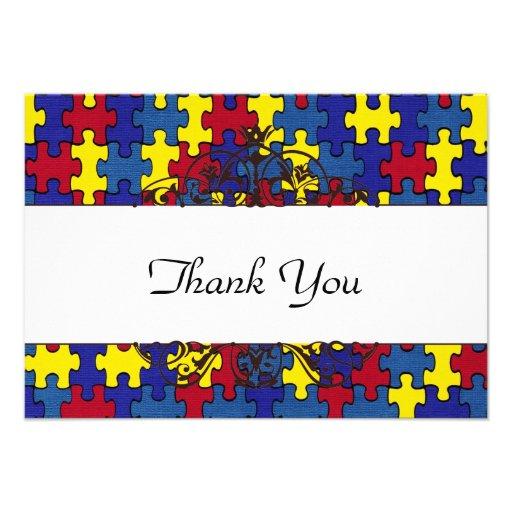 Autismus dankt Ihnen Personalisierte Einladungen