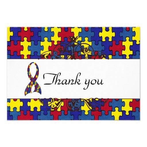 Autismus dankt Ihnen Individuelle Einladungskarten