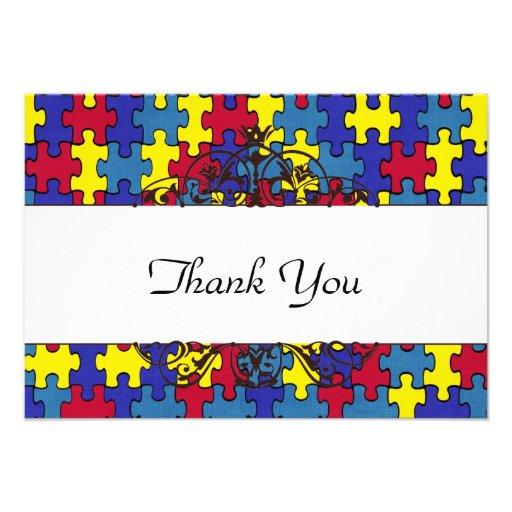 Autismus dankt Ihnen Einladungskarten