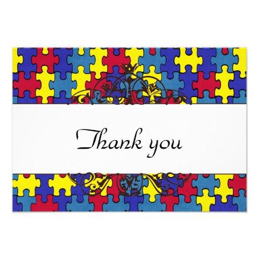 Autismus dankt Ihnen Individuelle Ankündigung