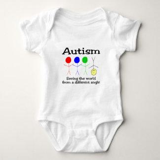 Autismus, der die Welt von einem anderen Winkel Baby Strampler
