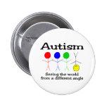 Autismus, der die Welt von einem anderen Winkel si Buttons