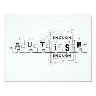 Autismus genug ist genug 10,8 x 14 cm einladungskarte