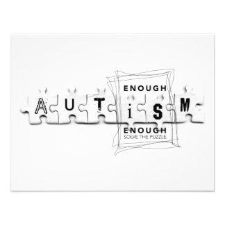 Autismus genug ist genug personalisierte einladungen