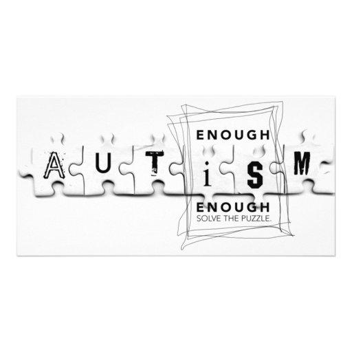 Autismus genug ist genug foto grußkarte