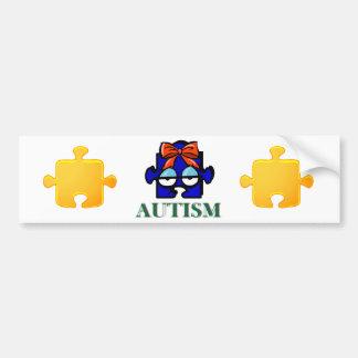 Autismus-Gesichts-Autoaufkleber Autoaufkleber