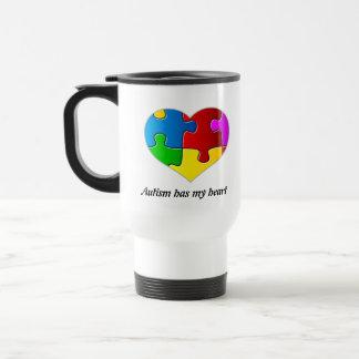Autismus hat mein Herz, Reise-Tassenweiß… Reisebecher