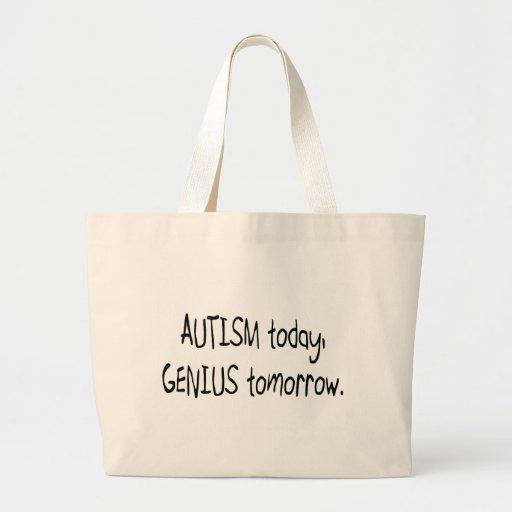 Autismus-heute Genie morgen Jumbo Stoffbeutel