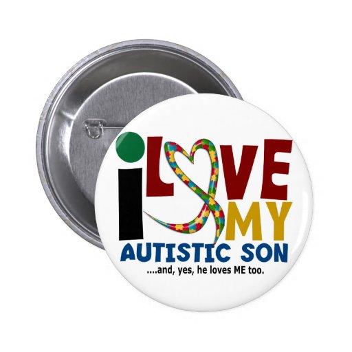 AUTISMUS I Liebe mein autistischer Sohn 2 Anstecknadel