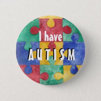 Autismus Identifikations-Knopf Runder Button 5,1 Cm