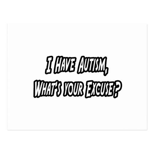 Autismus… Ihre Entschuldigung? Postkarte
