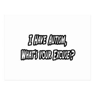Autismus… Ihre Entschuldigung? Postkarten
