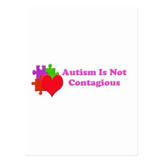 Autismus ist nicht ansteckend postkarte
