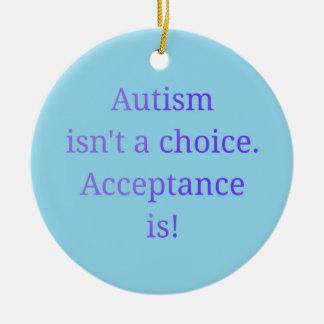 Autismus ist nicht ein auserlesenes (blau) rundes keramik ornament