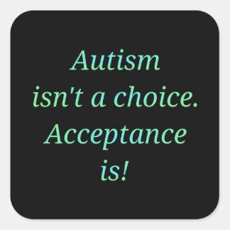 Autismus ist nicht… ein auserlesenes quadratischer aufkleber