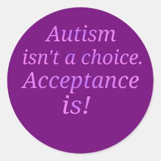 Autismus ist nicht… ein auserlesenes runder aufkleber