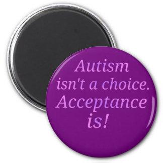 Autismus ist nicht… ein auserlesenes runder magnet 5,1 cm