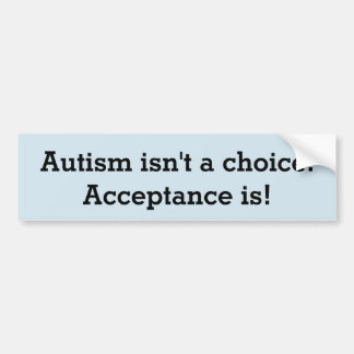 Autismus ist nicht eine Wahl Autoaufkleber