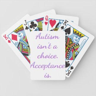 Autismus ist nicht eine Wahl Bicycle Spielkarten
