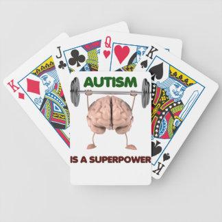 Autismus ist Supermacht, anhebendes Bicycle Spielkarten