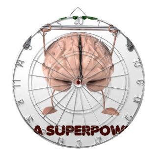 Autismus ist Supermacht, anhebendes Dartscheibe