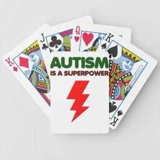 Autismus ist SuperPower, Kinder, Kinder, sich Bicycle Spielkarten