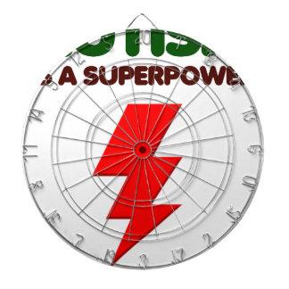 Autismus ist SuperPower, Kinder, Kinder, sich Dartscheibe