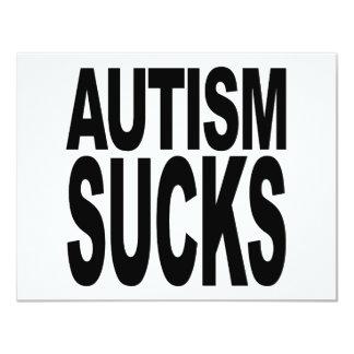 Autismus ist zum Kotzen 10,8 X 14 Cm Einladungskarte