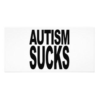 Autismus ist zum Kotzen Photo Grußkarte